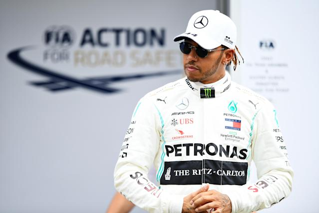 Lewis Hamilton ahead of the F1 Grand Prix of Australia. (Photo by Quinn Rooney/Getty Images)