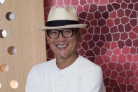 Chef Masaharu Morimoto poses for a photo at Momosan Wynwood on Wednesday, May 19, 2021, in Miami, Fla. (Photo by Scott Roth/Invision/AP)