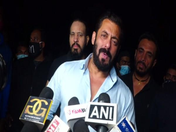Bollywood superstar Salman Khan speaking to reporters on the occasion of his 55th Birthday. (Photo/ANI)