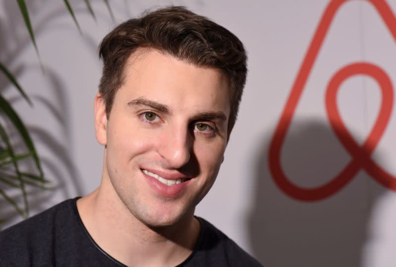 FILE PHOTO: FILE PHOTO: Airbnb Chief Executive Brian Chesky poses for Reuters in Los Angeles