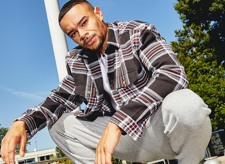 Former Love Island contestant Wes Nelson modelling ASOS clothing. Photo: Yahoo Finance UK
