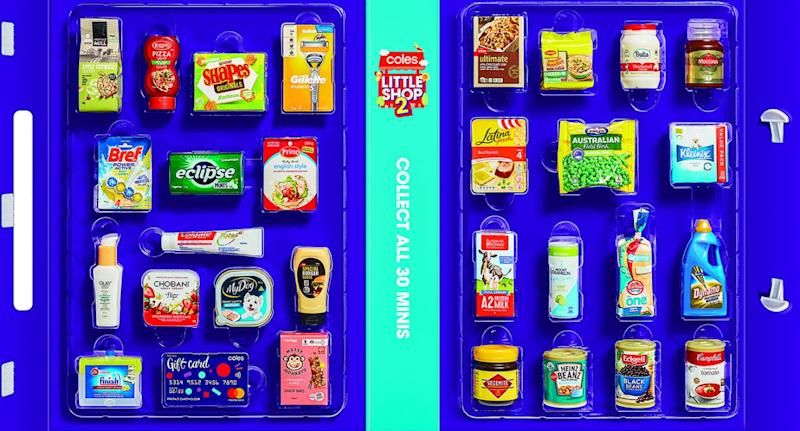 Coles are releasing Coles Little Shop collectables on July 17. Source: Supplied
