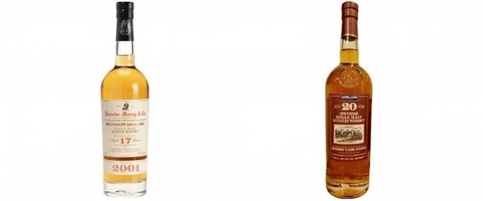 Alexander Murray scotch and Kirkland Signature scotch