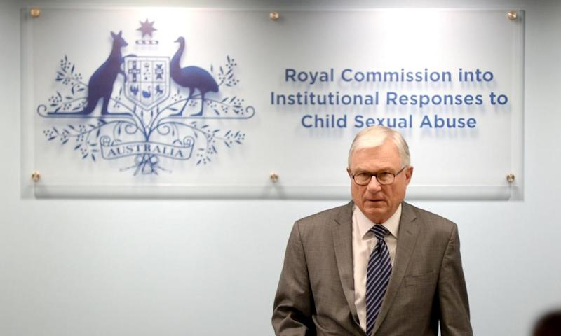 Commissioner Peter McClellan, head of the Royal Commission into Institutional Responses to Child Sexual Abuse, during the commission's public hearing in Sydney into the Australian Defence Force.