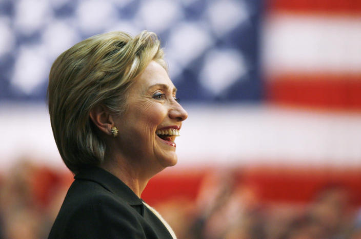 <p>U.S. Democratic presidential candidate Sen. Hillary Clinton at a campaign rally in Des Moines, Iowa, in January 2008. (Photo: Jim Bourg/Reuters)</p>