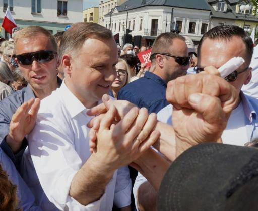 Duda, who is running for re-election, has equated 'LGBT' ideology with communism
