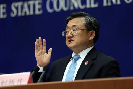 China's Vice Foreign Minister Liu Zhenmin speaks during a news conference in Beijing