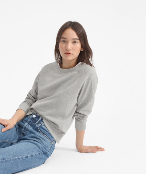 The Lightweight French Terry Crew in heather grey
