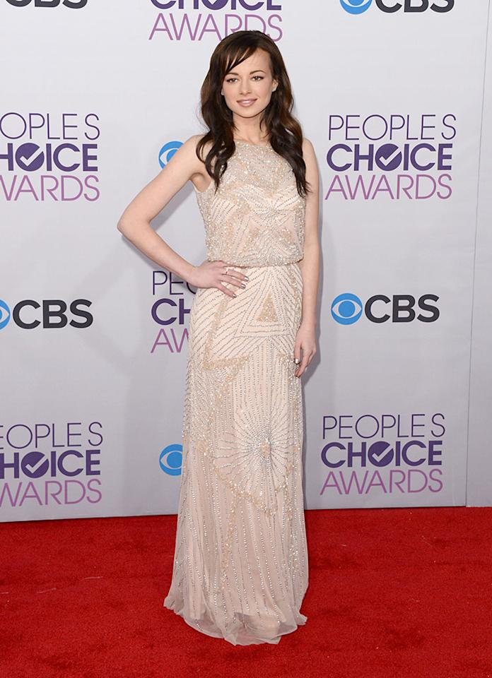 Ashley Rickards attends the 39th Annual People's Choice Awards at Nokia Theatre L.A. Live on January 9, 2013 in Los Angeles, California.