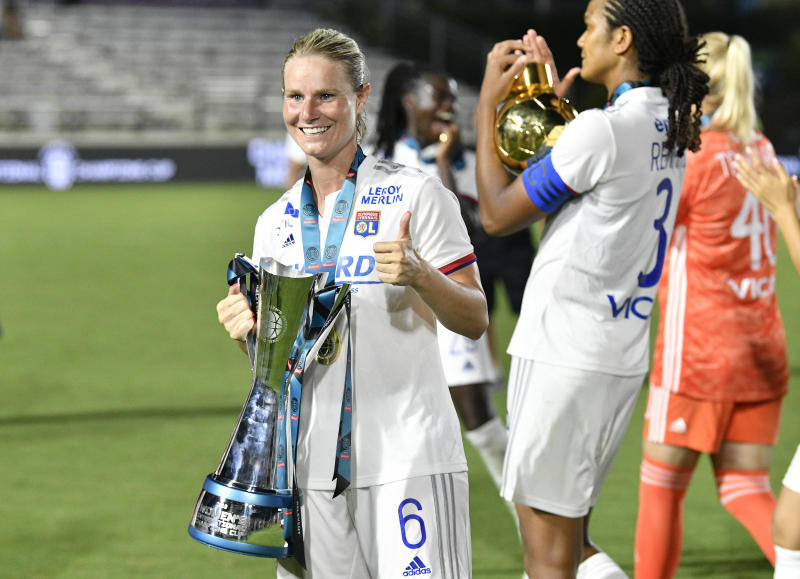 European clubs like Lyon, which features French midfielder Amandine Henry (pictured) and other stars, have become a force in women's soccer. (Photo by Grant Halverson/International Champions Cup via Getty Images)
