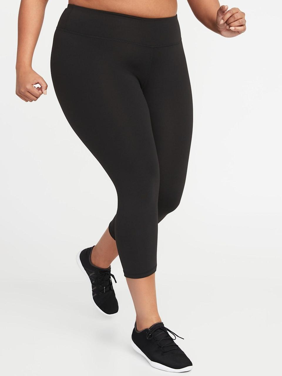 <p>These <span>Old Navy High-Waisted Elevate Compression Crops</span> ($30) are flattering and work for any workout.</p>