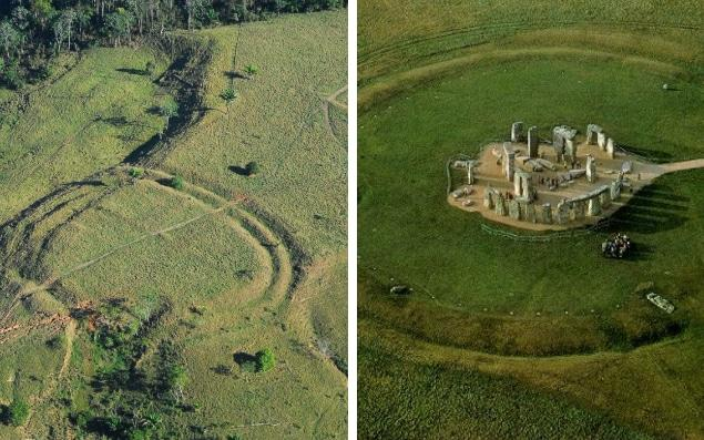 450 'henge' earthworks were found using drones in the Brazilian rainforest  -  Salman Kahn and José Iriarte