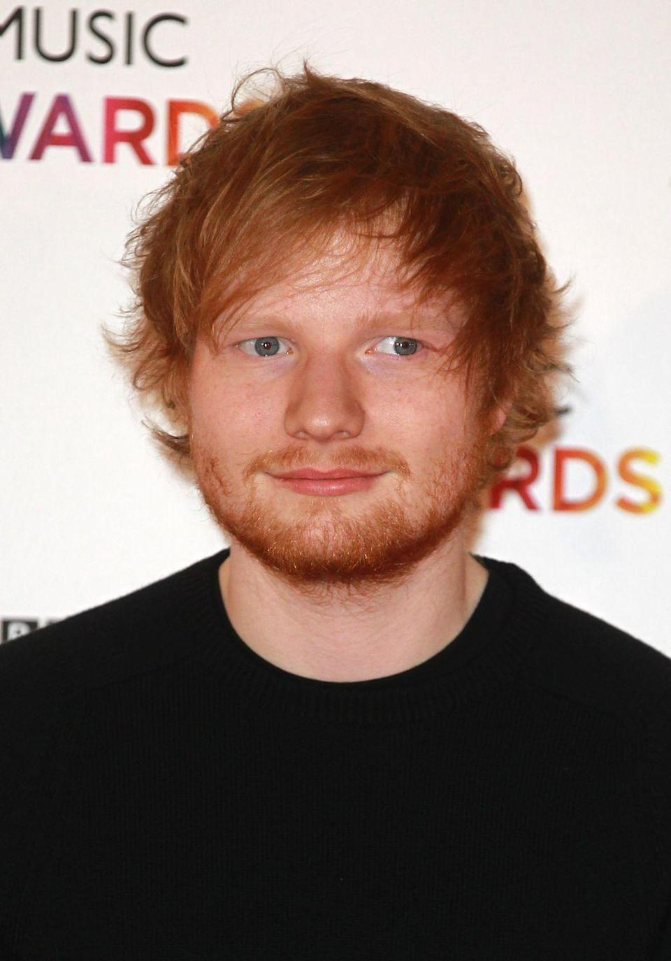 """<p><a href=""""https://www.goodhousekeeping.com/life/news/a43368/ed-sheeran-doppleganer/"""" rel=""""nofollow noopener"""" target=""""_blank"""" data-ylk=""""slk:Ed Sheeran"""" class=""""link rapid-noclick-resp"""">Ed Sheeran</a> confirmed that <a href=""""https://metro.co.uk/2014/10/22/ed-sheeran-finally-admits-hit-song-dont-is-about-ellie-goulding-and-niall-horan-but-hes-totally-over-the-anger-now-4916079/"""" rel=""""nofollow noopener"""" target=""""_blank"""" data-ylk=""""slk:this song is about a messy breakup"""" class=""""link rapid-noclick-resp"""">this song is about a messy breakup</a> with his former girlfriend and fellow musician Ellie Goulding, who reportedly cheated on Ed with Niall Horan from One Direction. Yikes. </p>"""