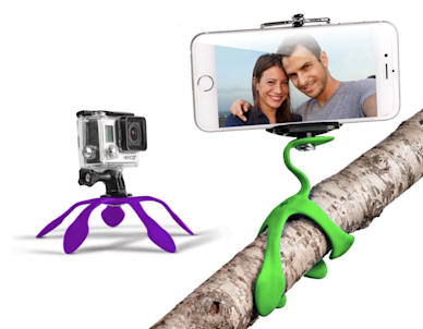 The Gekkopod holds your phone in any position.