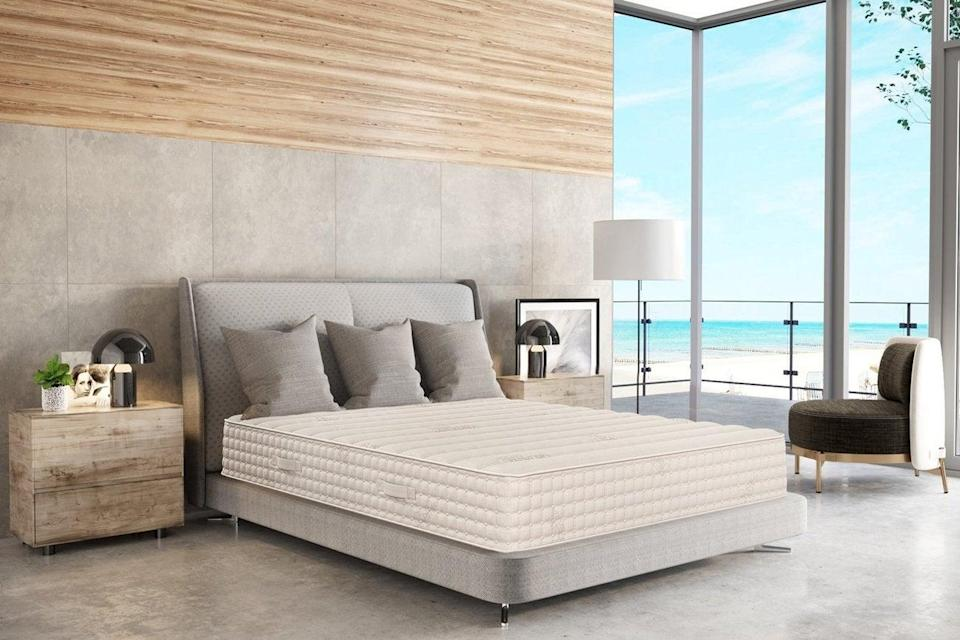 """<h2>PlushBeds</h2><br><strong>Sale:</strong> $1,200 off Bedroom Mattresses + Free Luxury Sheet Set, 20% off all Toppers & Bedding.<br><strong>Promo Code:</strong> GET15<br><strong>Dates:</strong> Now - July 5<br><br><em>Shop <strong><a href=""""http://plushbeds.com"""" rel=""""nofollow noopener"""" target=""""_blank"""" data-ylk=""""slk:PlushBeds"""" class=""""link rapid-noclick-resp"""">PlushBeds</a></strong></em><br><br><strong>PlushBeds</strong> Hybrid Latex Mattress: The Luxury Bliss®, $, available at <a href=""""https://go.skimresources.com/?id=30283X879131&url=https%3A%2F%2Fwww.plushbeds.com%2Fproducts%2F12-luxury-bliss-natural-latex-mattress-with-encased-coils"""" rel=""""nofollow noopener"""" target=""""_blank"""" data-ylk=""""slk:PlushBeds"""" class=""""link rapid-noclick-resp"""">PlushBeds</a>"""