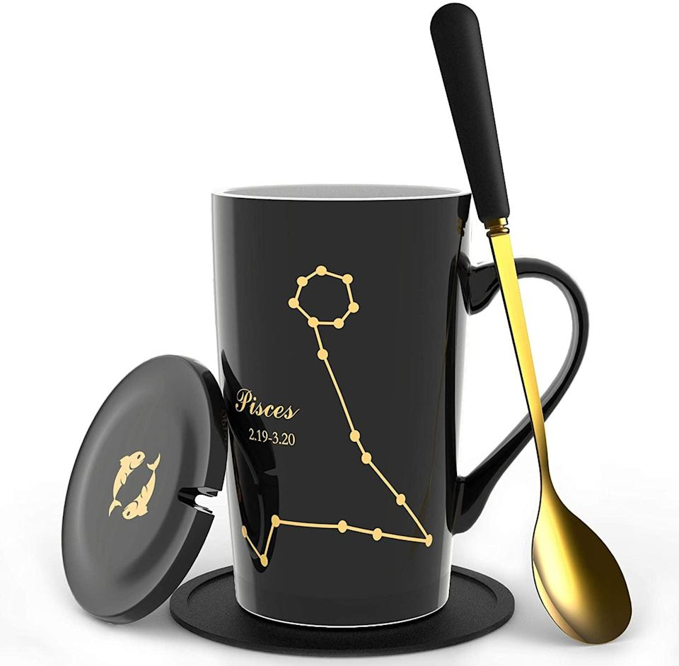 <p>The <span>Fullcci Pisces Coffee Mug Set</span> ($18) is so chic.</p>
