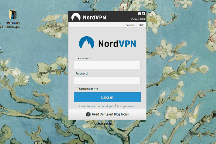 what is a vpn login screenshot