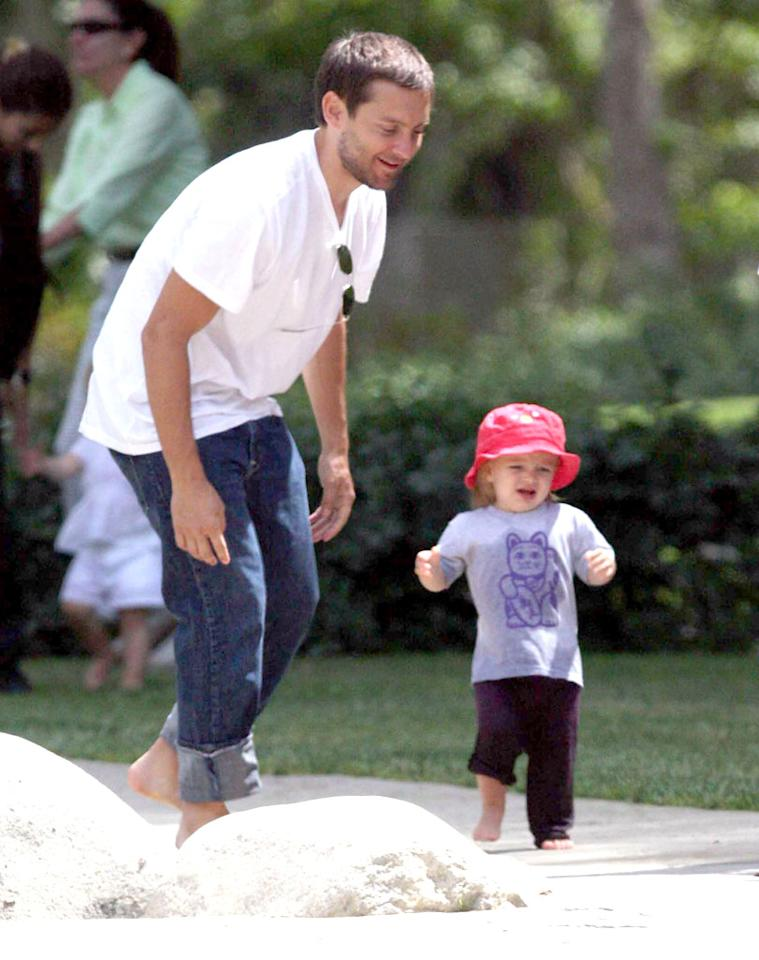 """Spider-Man"" star Tobey Maguire has an itsy-bitsy spider to call his own - daughter Ruby Sweetheart. <a href=""http://www.infdaily.com"" target=""new"">INFDaily.com</a> - May 15, 2008"