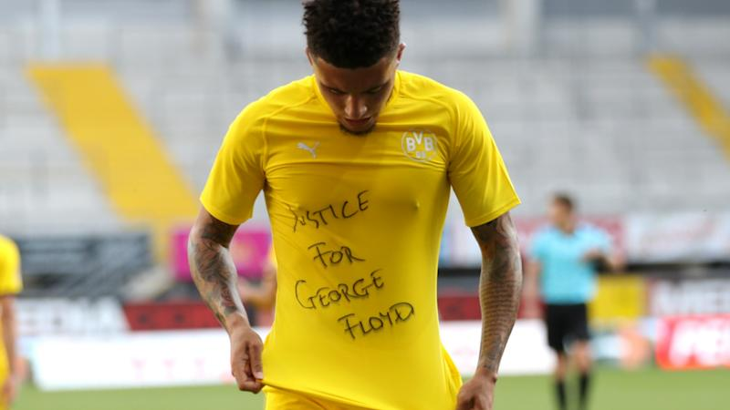 'We have to fight for justice' - Sancho speaks on 'bittersweet' hat-trick after George Floyd tribute