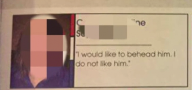 Tempers and politics flared after a Brainerd, Minn., over a high school student's quote aboutDonald Trump in the yearbook. (Photo: WCCO)