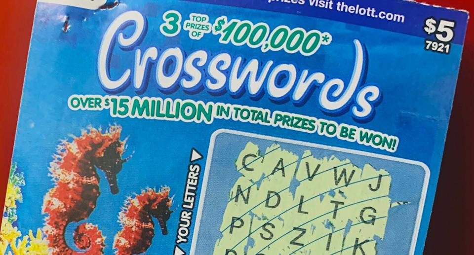 The woman won $100,000 from the birthday scratchie ticket. Source: The Lott