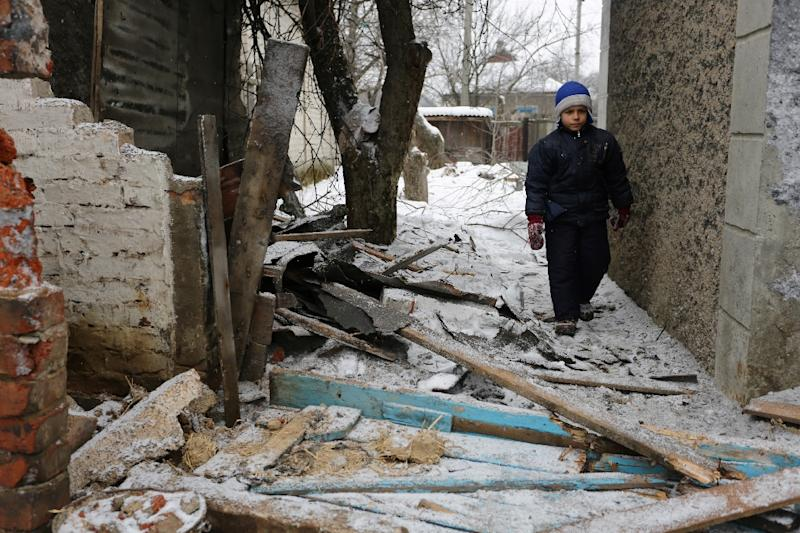 The flashpoint frontline town of Avdiivka has repeatedly been caught up in shelling in the Ukraine conflict, leaving locals regularly without power (AFP Photo/Aleksey FILIPPOV)