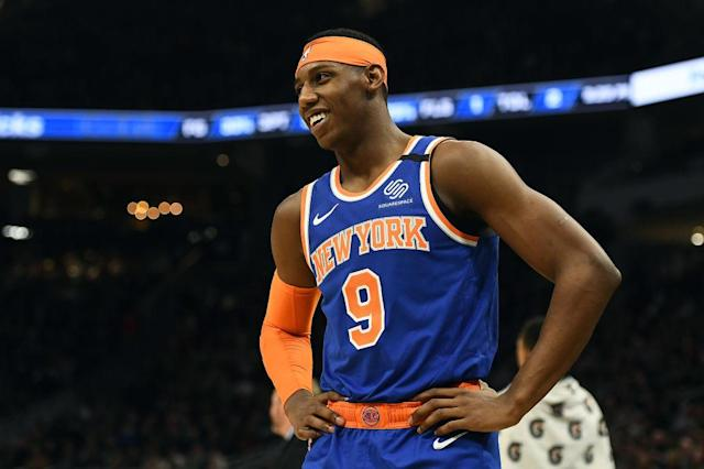 RJ Barrett will be joined by Nickeil Alexander-Walker, Shai Gilgeous-Alexander and Brandon Clarke on this year's NBA Rising Stars international squad. (Getty)