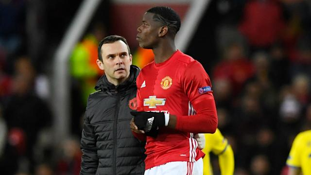 Manchester United and France will be without Paul Pogba in their upcoming matches after he suffered a hamstring injury.