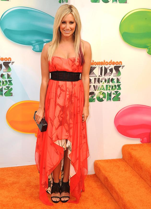Kids' Choice Awards 2012 photos: Ashely Tisdale rocked the midi/maxi dress trend on the red carpet.