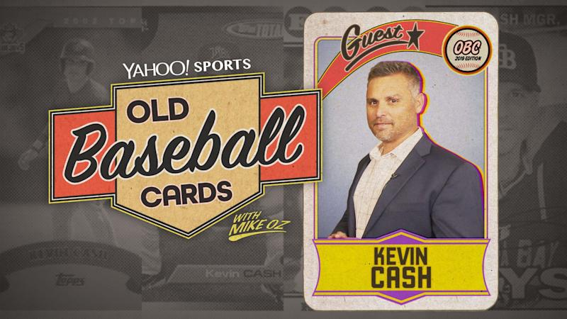 """Rays manager Kevin Cash opens 2004 Topps and 1987 Donruss on """"Old Baseball Cards."""" (Yahoo Sports)"""