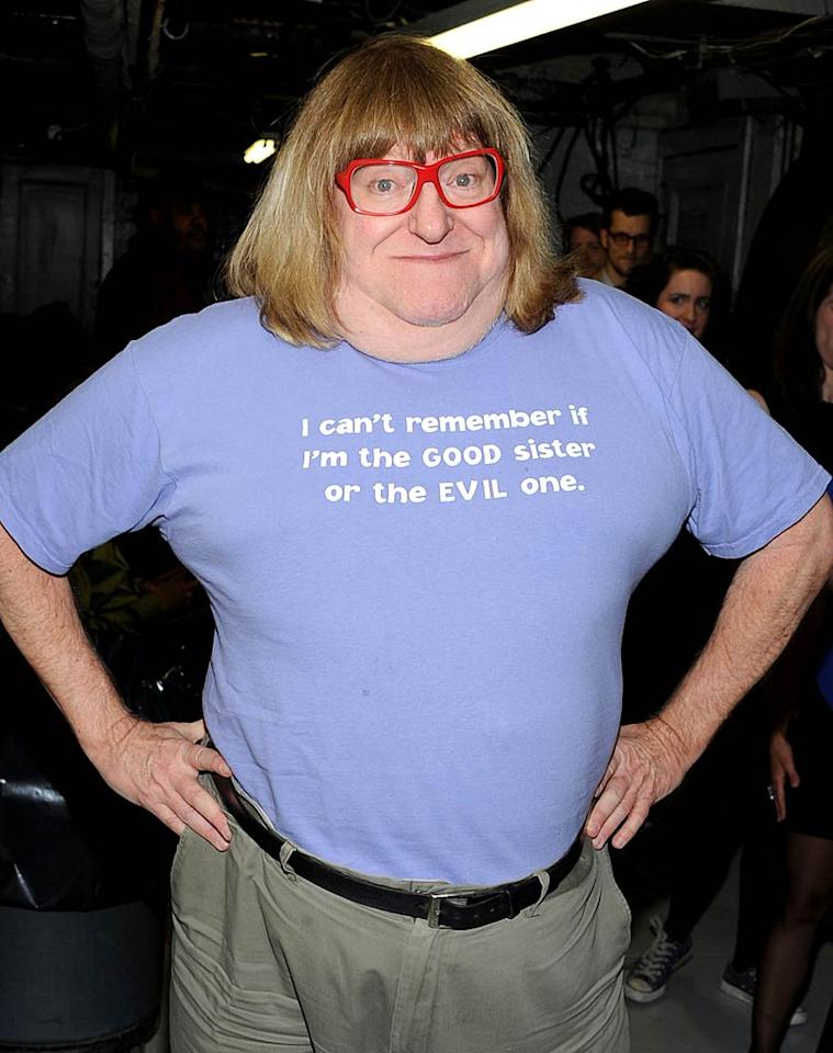 "We adore comedian Bruce Vilanch's unique sense of style, but those Sally Jessy Raphael-esque specs have got to go! Jason Kempin/<a href=""http://www.gettyimages.com/"" target=""new"">GettyImages.com</a> - January 31, 2011"