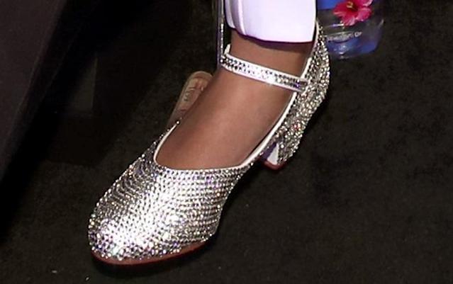 Blue Ivy's silver heels. (Photos: Getty Images)