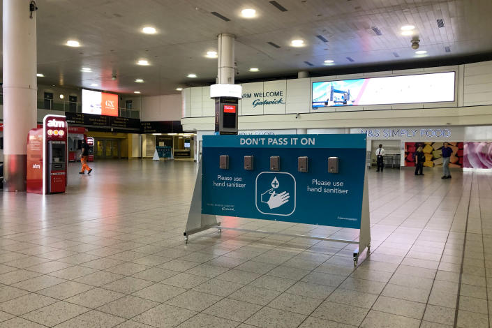 An empty Gatwick south terminal during the lockdown (Picture: Getty)