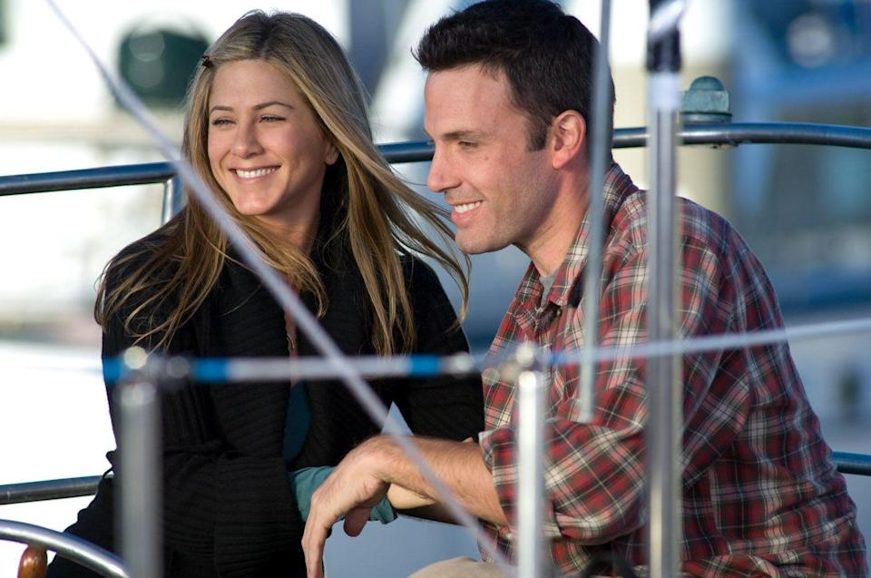 "<p>They keep throwing Aniston into these ensemble romantic comedies when they need to just let her shine on her own. Her plot in this collection of interwoven cautionary tales involves a woman in a long-term relationship with a man (Ben Affleck) who won't propose.</p><p><a class=""link rapid-noclick-resp"" href=""https://www.amazon.com/Hes-Just-Not-That-Into/dp/B07DGKQTFH/?tag=syn-yahoo-20&ascsubtag=%5Bartid%7C10063.g.36311626%5Bsrc%7Cyahoo-us"" rel=""nofollow noopener"" target=""_blank"" data-ylk=""slk:WATCH NOW"">WATCH NOW</a></p>"