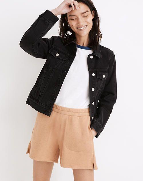 """<p><strong>Madewell</strong></p><p>madewell.com</p><p><strong>$118.00</strong></p><p><a href=""""https://go.redirectingat.com?id=74968X1596630&url=https%3A%2F%2Fwww.madewell.com%2Fthe-jean-jacket-in-lunar-wash-99106155570.html&sref=https%3A%2F%2Fwww.prevention.com%2Fbeauty%2Fstyle%2Fg37148346%2Fbest-jean-jackets-for-women%2F"""" rel=""""nofollow noopener"""" target=""""_blank"""" data-ylk=""""slk:Shop Now"""" class=""""link rapid-noclick-resp"""">Shop Now</a></p><p>Baker happily says that denim jackets will never go out of style and that's something we're sure will stay true forever! Which is why you'll definitely want to add this top-rated Madewell jacket to your collection. It <strong>comes in a lunar wash (black) and gives off a clean and tailored look</strong>. </p>"""