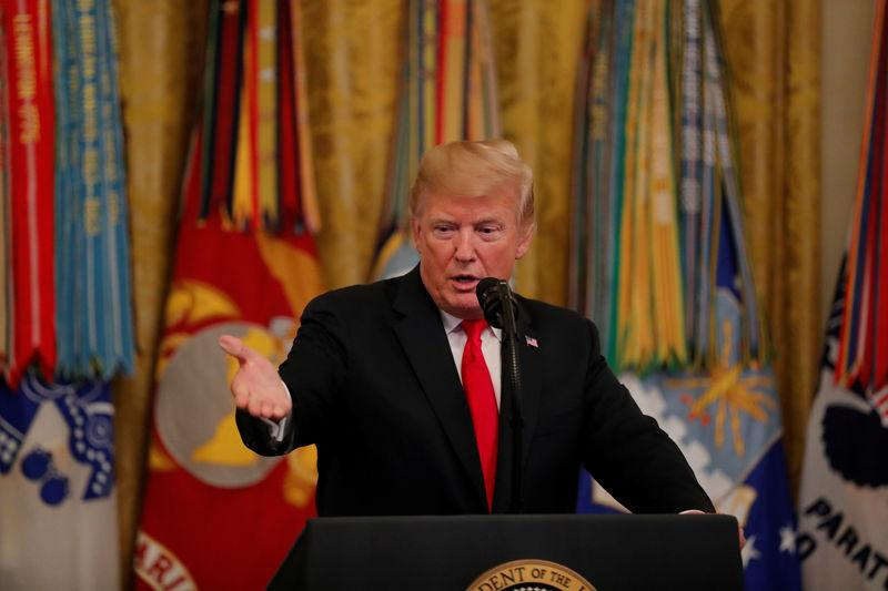 U.S. President Donald Trump hosts a White House reception for Congressional Medal of Honor recipients in Washington