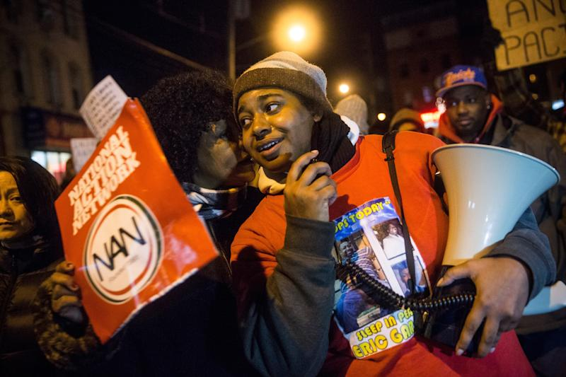 Erica Garner recently discovered she had heart problems after the birth of her son, whom she named after her father. (Andrew Burton via Getty Images)