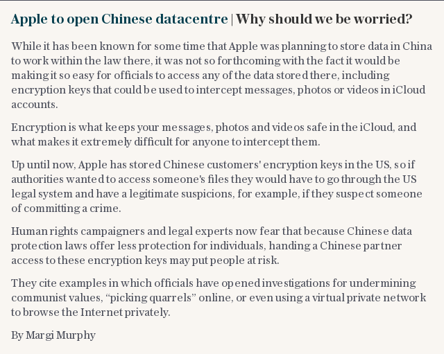 Apple to open Chinese datacentre | Why should we be worried?