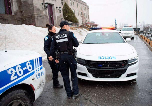 PHOTO: Police provide security at Saint Joseph's Oratory in Montreal, March 22, 2019, after Catholic Priest Claude Grou was stabbed during a livestreamed morning mass.  (Sebastien St-Jean/AFP/Getty Images)