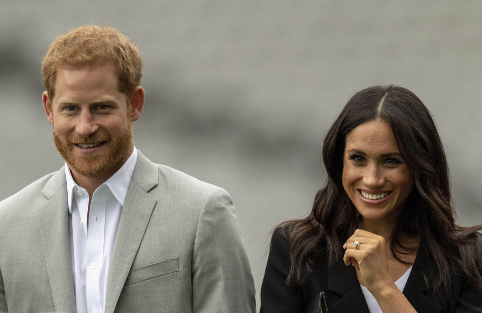 Harry and Meghan stepped away from the Royal Family last year. (Getty)