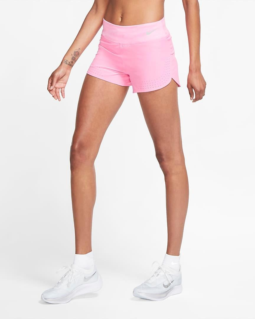"""""""These Nike Shorts are my absolute favorite! The thick Nike Flex material is super flattering and allows for a comfortable stride. Also, the wide waistband sits right under the belly button for some added support, which I love."""" - <em>F.B.</em> $45, Nike. <a href=""""https://www.nike.com/t/womens-running-shorts-mjnQPk/AQ5416-607"""" rel=""""nofollow noopener"""" target=""""_blank"""" data-ylk=""""slk:Get it now!"""" class=""""link rapid-noclick-resp"""">Get it now!</a>"""