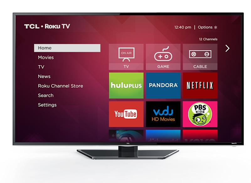 Roku's operating system running on a TCL smart television.