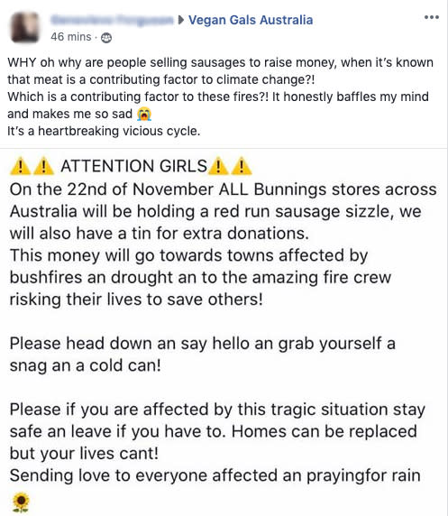 Pictured is the outraged woman's social media post. Source: Facebook