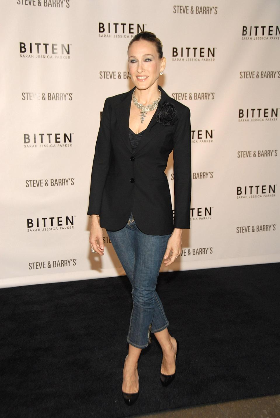 Having gained fame as Carrie Bradshaw on <em>Sex and The City</em>, Sarah Jessica Parker has partaken in many fashion ventures since the show ended (notably her successful shoe line titled SJP). But back in 2007, the actor and entrepreneur launched Bitten, an affordable line of women's apparel sold exclusively at Steve & Barry stores. It folded in 2008, when the retailer closed its doors.