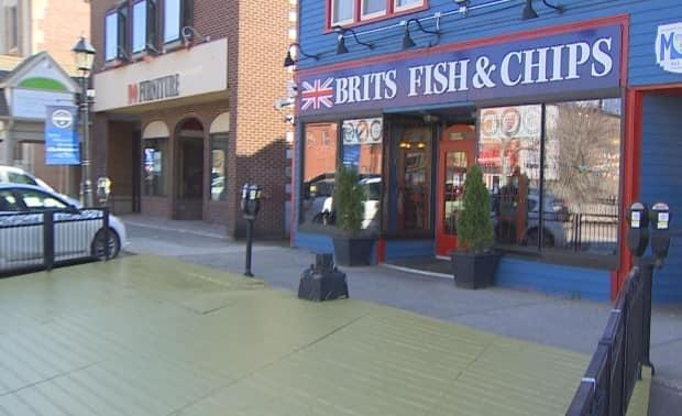 Brits Fish and Chips says it's building its biggest patio ever.  (Kirk Pennell/CBC - image credit)