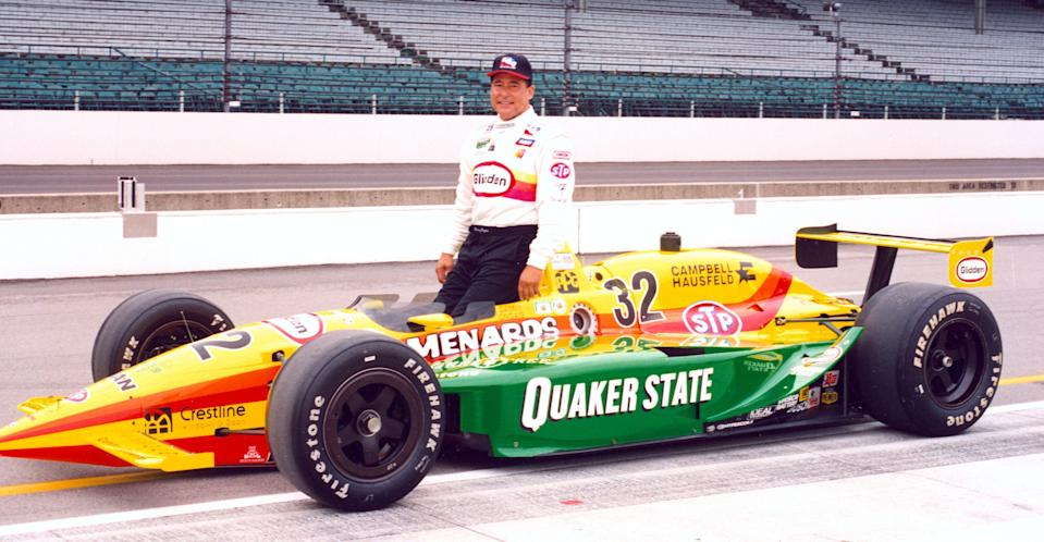 <em>Filling the No. 32 seat vacated by the late Scott Brayton, Danny Ongais made his last start in the Indy 500 with Team Menard (IndyCar).</em>