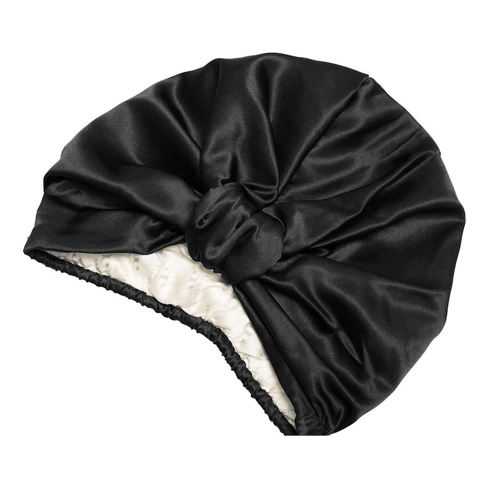 """You can't take a swim in this Grace Eleyae Silk Twist Turban, but the luxurious accessory will keep both faux and natural hair from being compromised by the sun. Lined with silk, this protective, pre-knotted <a href=""""https://www.allure.com/gallery/protective-silk-bonnets-hair-wraps-hats?mbid=synd_yahoo_rss"""" rel=""""nofollow noopener"""" target=""""_blank"""" data-ylk=""""slk:headwrap"""" class=""""link rapid-noclick-resp"""">headwrap</a> will keep you cool and prevent <a href=""""https://www.allure.com/story/hair-strengthening-products-to-stop-breakage?mbid=synd_yahoo_rss"""" rel=""""nofollow noopener"""" target=""""_blank"""" data-ylk=""""slk:hair breakage"""" class=""""link rapid-noclick-resp"""">hair breakage</a>. Just add sunglasses."""
