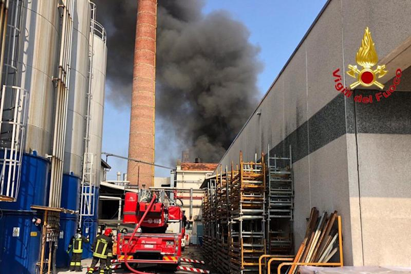 Incendio azienda Gallarate diossina