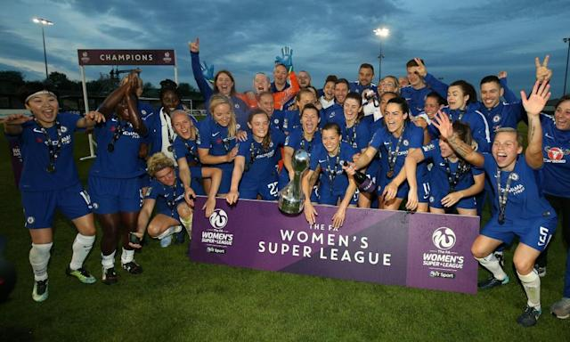 Jonna Andersson sets seal as Chelsea wrap up double with win at Bristol City