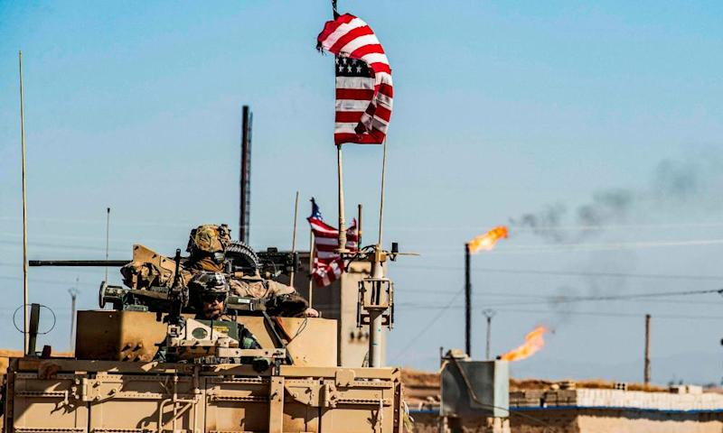 US forces in Syria's Hasakeh province.